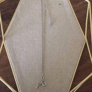 Authentic Swarovski lock and key necklace
